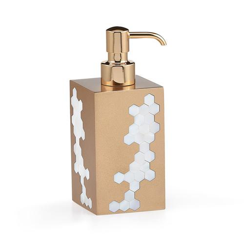 Hex Gold Pump Dispenser