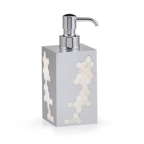 Hex Silver Pump Dispenser