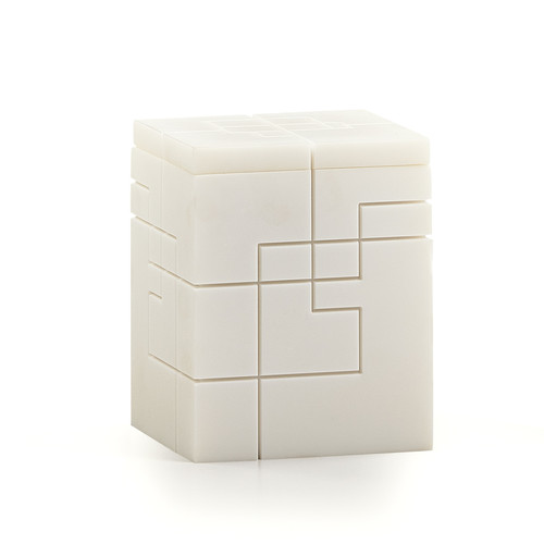 Linear White Canister