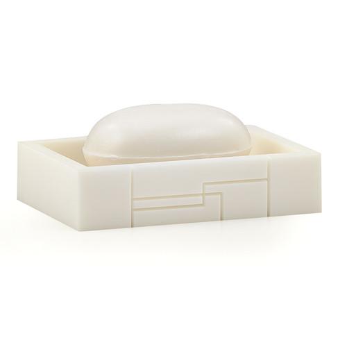 Linear White Soap Dish