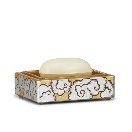 Ming Clouds Soap Dish with Glass Insert