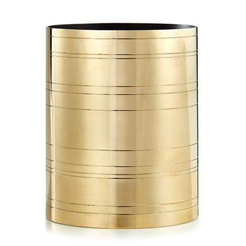 Rings Brass Waste Basket