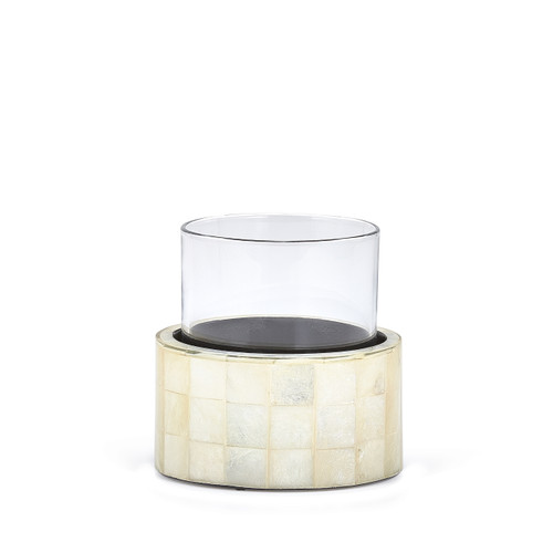 Capiz Ivory Glass Holder