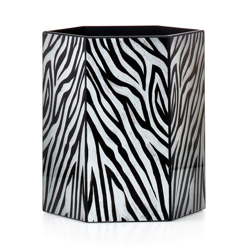 Zebra Waste Basket