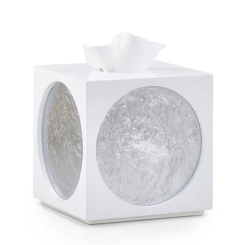 Moongate Silver Tissue Cover