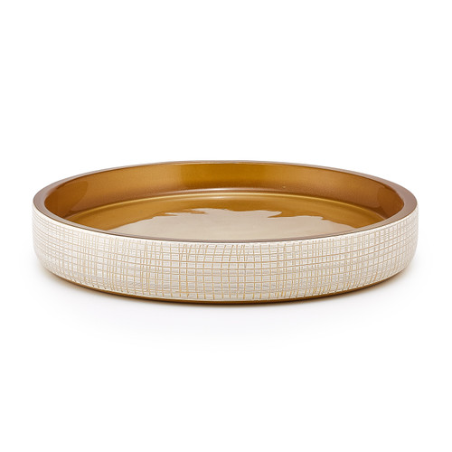 Woven Gold Tray