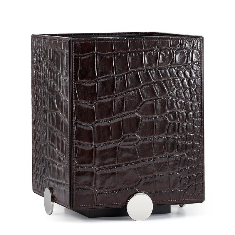 Discus Brown Waste Basket