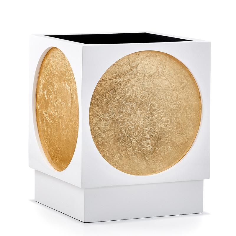 Moongate Gold Waste Basket