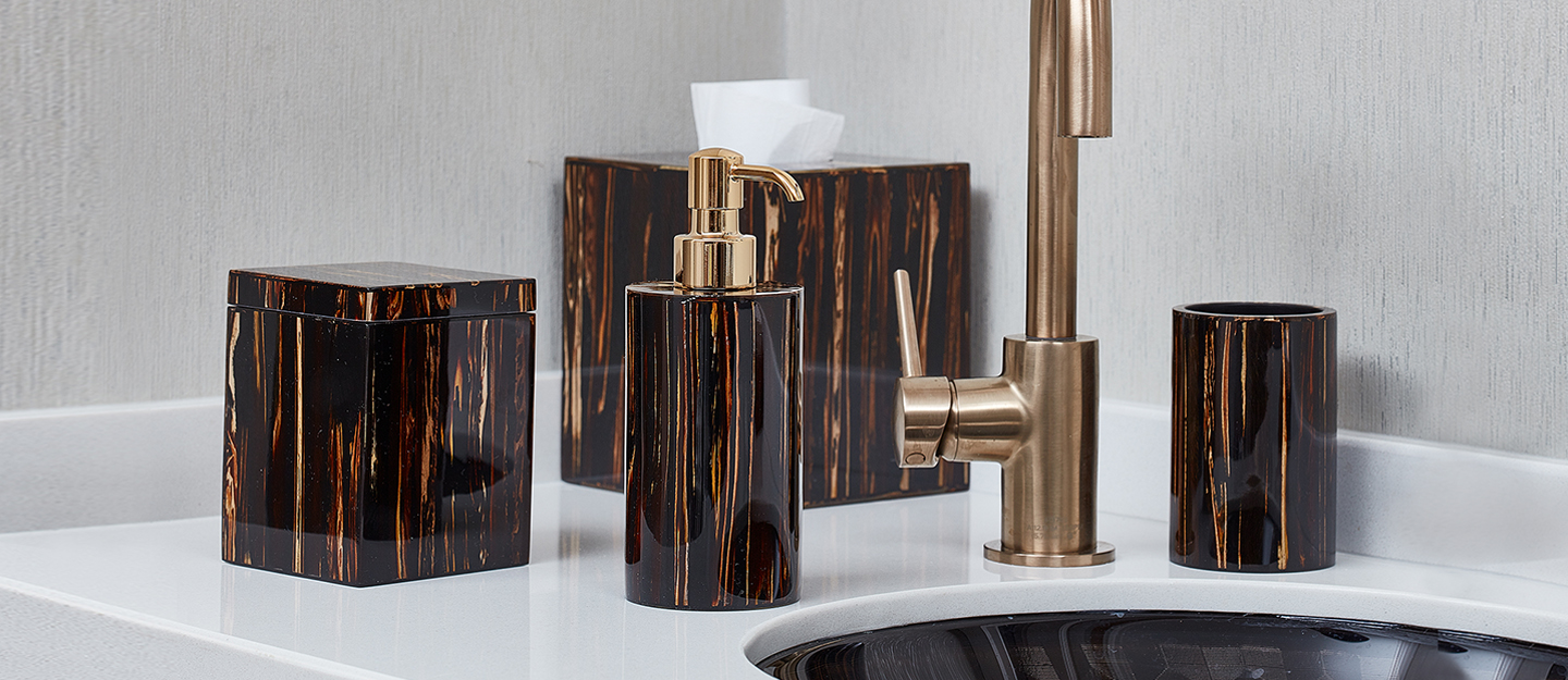 Luxury Soap Dispensers, Tissue Covers and More