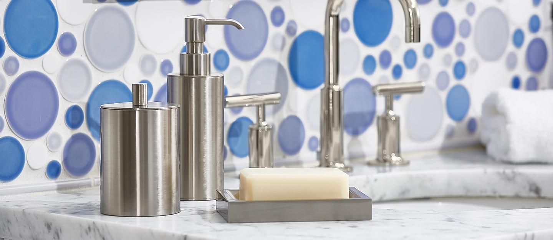 Luxe Nickel Bath Accessories