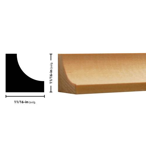 "100 Pine Cove Moulding - 11/16"" x 11/16"""