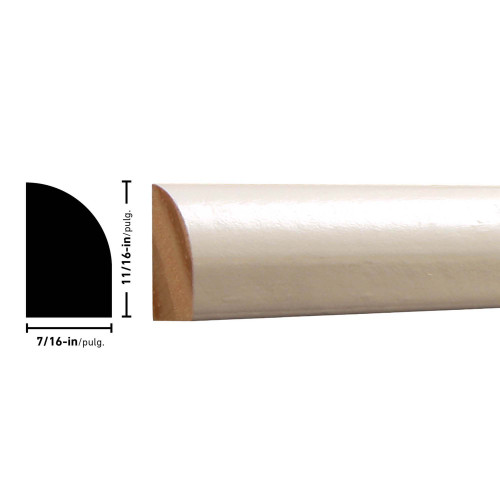 "129 Primed FJ Pine Shoe Moulding - 7/16"" x 11/16"""