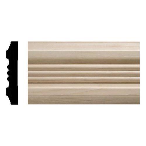 "19 White Hardwood Chair Rail - 27/32"" x 1-1/15"""