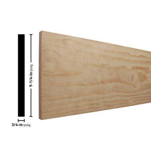 "1X10 Clear Radiata Pine Board - 3/4"" x 9-1/4"""