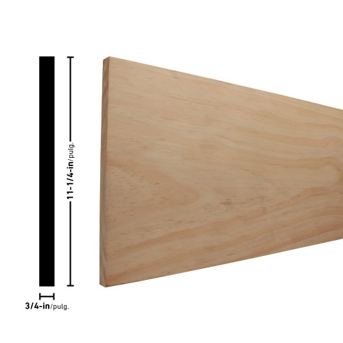 "1X12 Clear Radiata Pine Board 3/4"" x 11-1/4"""