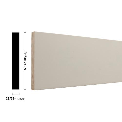 """1X6 Primed FJ Pine Board - 23/32"""" x 5-1/2"""""""