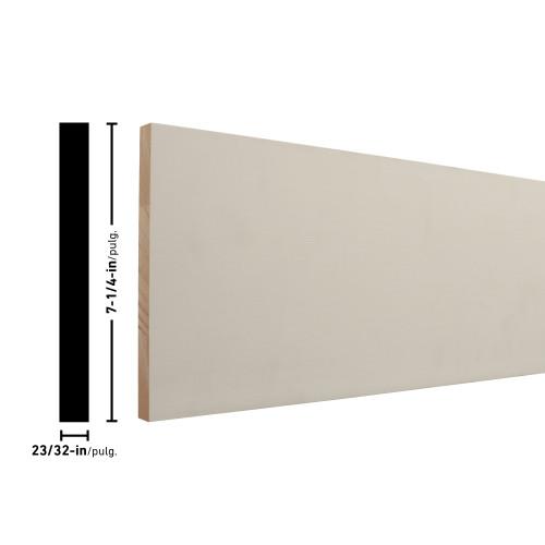 """1X8 Primed FJ Pine Board - 23/32"""" x 7-1/4"""""""