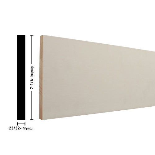 "1X8 Primed FJ Poplar Board - 3/4"" x 7-1/4"""
