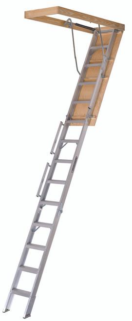"228P - Fire Treated Aluminum Attic Ladder - 22-1/2"" x 63"" x 12'"