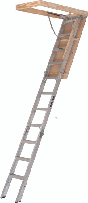 """AA2510 - Aluminum Attic Ladder - 25-1/2"""" x 54"""" x 10-3"""