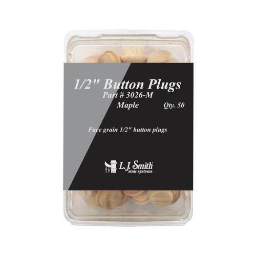 "3026 - 50pk 1/2"" Button Plug"