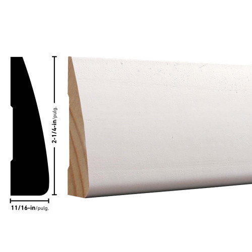 "327 Primed FJ Pine Casing - 11/16"" x 2-1/4"""