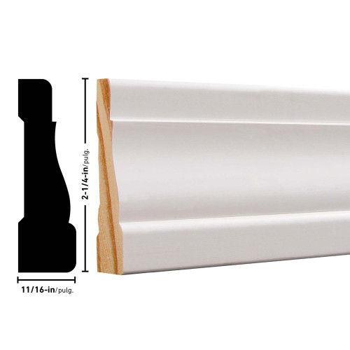 "356 Primed FJ Pine Casing - 11/16"" x 2-1/4"""