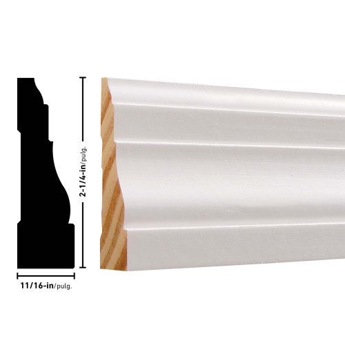 "366 Primed FJ Pine Casing - 11/16"" x 2-1/4"""