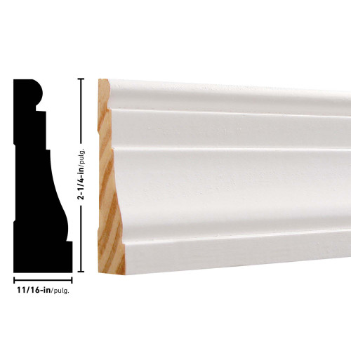 "376 Primed FJ Pine Casing - 11/16"" x 2-1/4"""