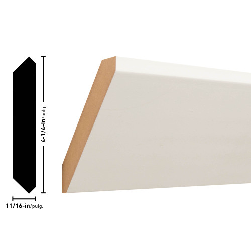 "400 Primed MDF Crown - 11/16"" x 4-1/4"""