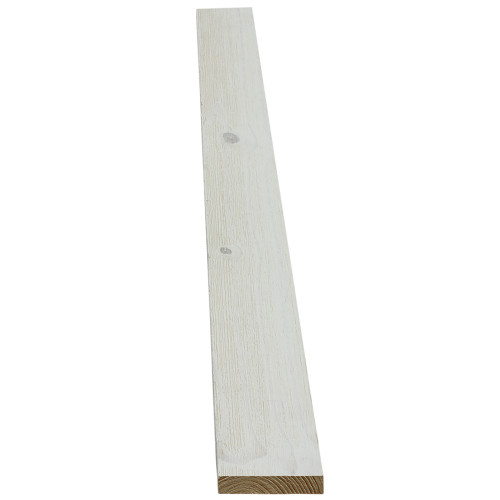 "4WWHT Prefinished White Wash Shiplap Trim - 11/16"" x 3-1/2"""