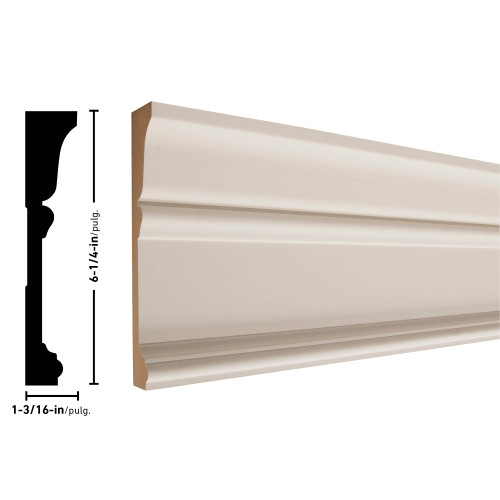 "5030 Primed MDF Architrave - 1-3/16"" x 6-1/4"""