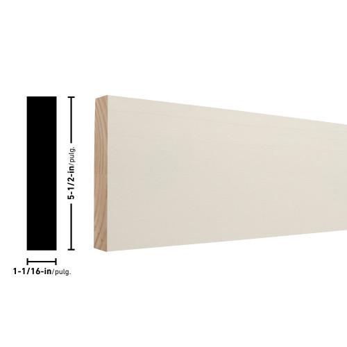 """54X6 Primed FJ Pine Board - 1-1/16"""" x 5-1/2"""""""