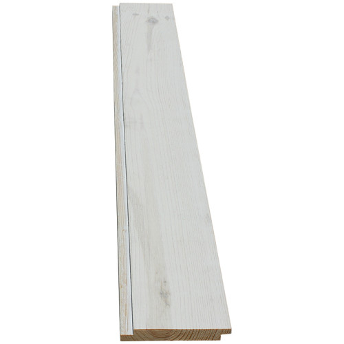 "6WWHT Prefinished White Wash Shiplap - 11/16"" x 5-3/8"""