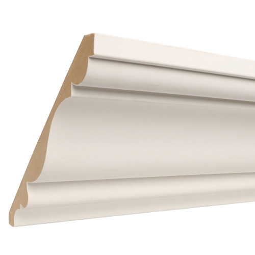 "827 Primed MDF Crown - 13/16"" x 7-1/4"""