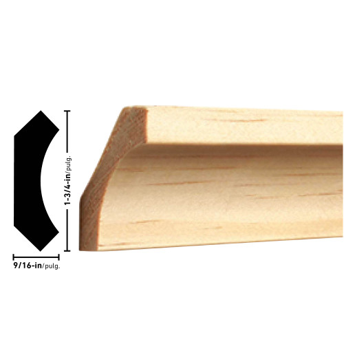 "85 Pine Cove Moulding - 9/16"" x 1-3/4"""