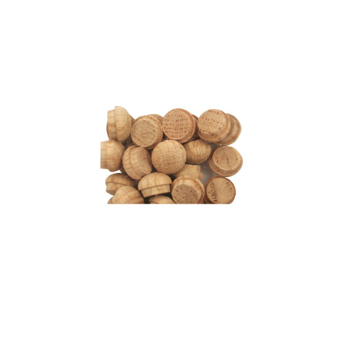 "B3026 - 5000pc 1/2"" Oak Button Plug"