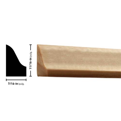 "L131 Pine Shoe Moulding - 7/16"" x 11/16"""