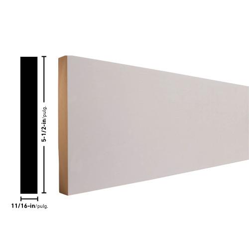 "L16 Primed MDF Board - 11/16"" x 5-1/2"""