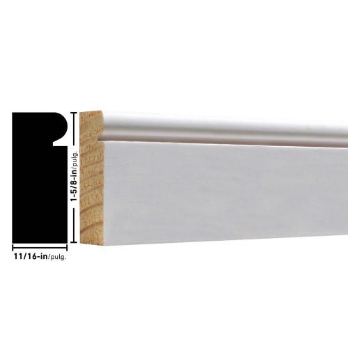 """L176 Primed FJ Brick Mould - 11/16"""" x 1-5/8"""""""