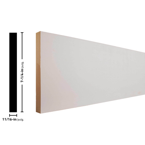 "L18 Primed MDF Board - 11/16"" x 7-1/4"""