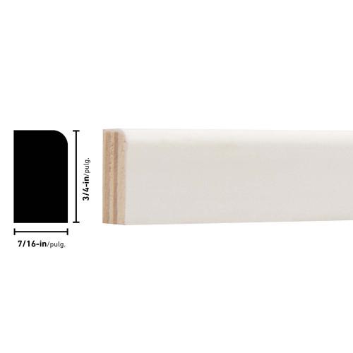 "L254 Primed FJ Pine Shoe Moulding - 7/16"" x 3/4"""