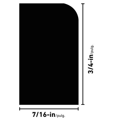 """L254 Poplar Shoe Moulding - 7/16"""" x 3/4"""""""