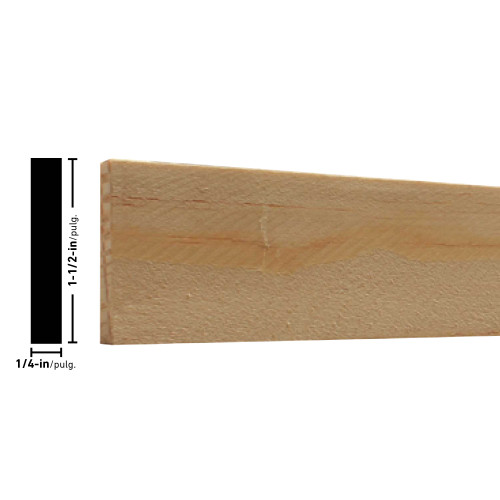 "L266 Treated Pine Lattice - 1/4"" x 1-1/2"""