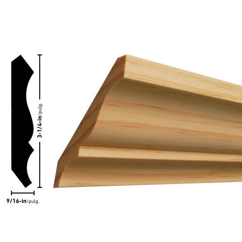 """L51 Pine Crown - 9/16"""" x 3-1/4"""""""