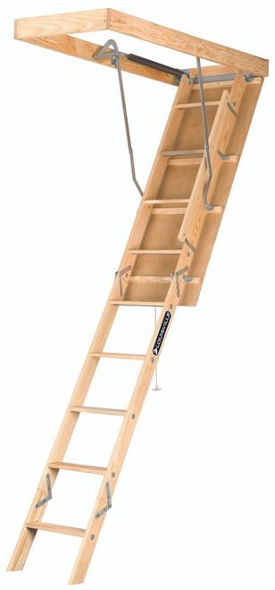 """224P - Premium Wood Fire Treated Attic Ladder - 22-1/2"""" x 54"""" x 8'9"""""""