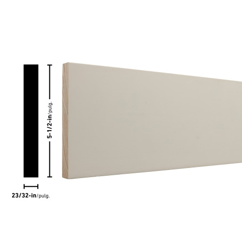 "T1X6 Primed FJ Board - 23/32"" x 5-1/2"""