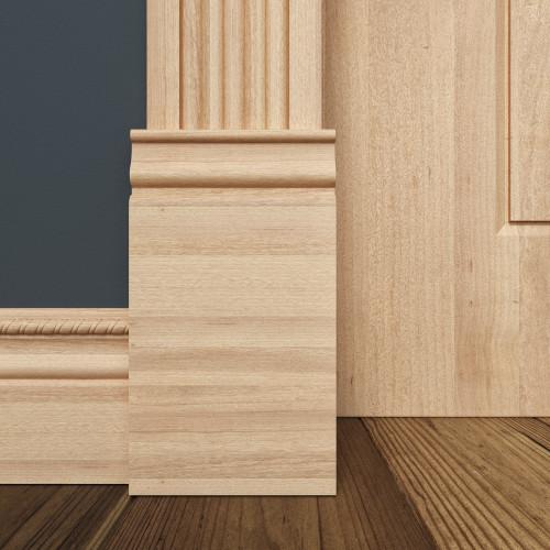 """B743 White Hardwood Plinth Block 1-1/16"""" x 4-1/2"""""""