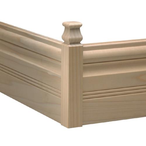 """B892 White Hardwood Moulding Blocks 1-1/8"""" x 1-1/8"""""""