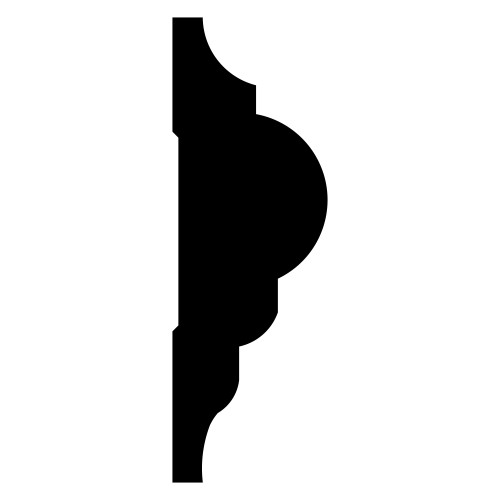 """1217 Primed Finger Joint Pine Panel Moulding 1/2"""" x 1-1/2"""""""